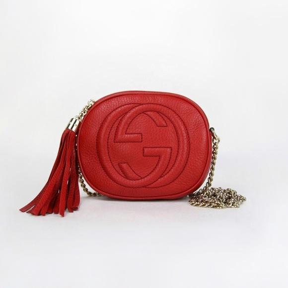 Gucci Handbags - GUCCI Mini Soho Disco Bag / Red